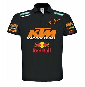 polo t shirt ktm red bull racing team personalizzata motocross motogp ebay. Black Bedroom Furniture Sets. Home Design Ideas