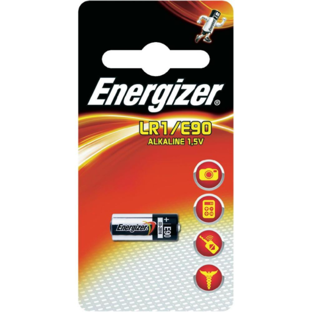 1 x Energizer LR1 MN9100 1.5V Alkaline Battery E90 AM5
