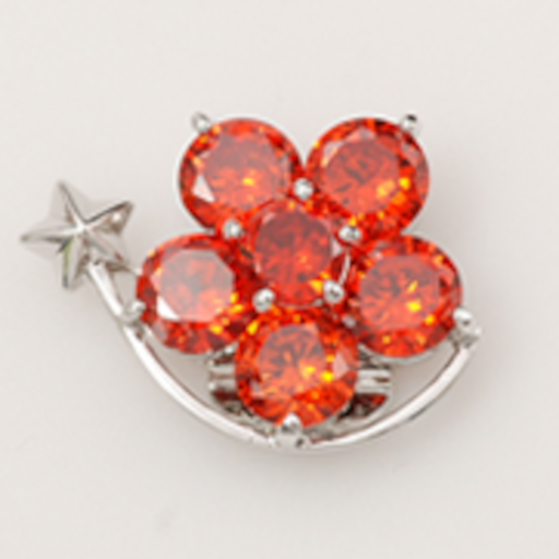 Popits Shooting Star Orange Charms