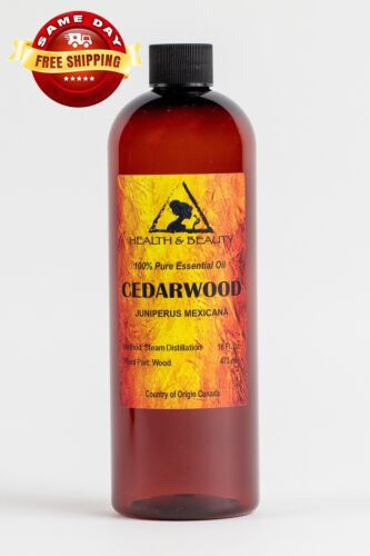 CEDARWOOD ESSENTIAL OIL ORGANIC AROMATHERAPY 100% PURE NATURAL 16 OZ