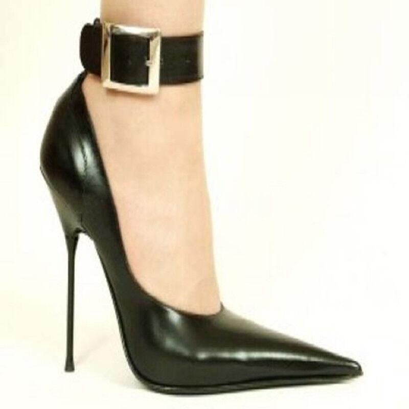 Kvinnor Extreme Stilettos High klackar Ankle Ankle Ankle Strap Sexy Point Toe skor UK 2.5 -9.5  erbjuder 100%