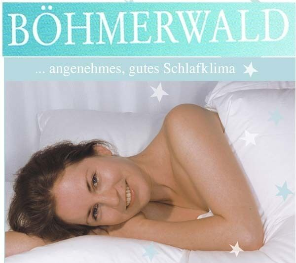 Böhmerwald Daunen Elegance Kassettenbett Normal mit 2,5 cm Innensteg  135 x 200