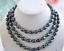 New-8-9mm-New-Tahitian-Black-Natural-Pearl-Necklace-34-034-AAA thumbnail 1