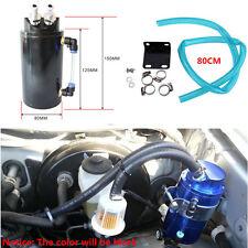 Universal Aluminum Cylinder Oil Catch Radiator Reservoir Tank Breather Can Black