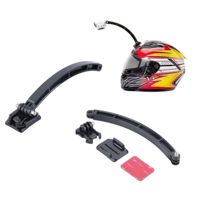 Helmet Extension Arm Adhesive Mount Holder For Gopro Hero 2/3/3+/4 Accessory vh