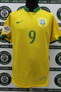 Maglia-calcio-RONALDO-BRASILE-TG-L-2006-shirt-trikot-camiseta-maillot-jersey