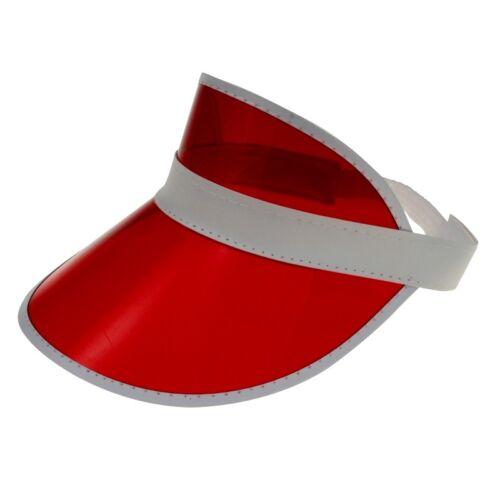 4x Visor Retro Cap Soleil Casquette Visière Transparent Plastique Panneau Casquette