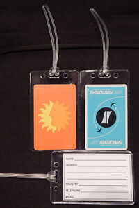 Luggage-tag-National-Airlines-w-playing-card-choose-from-multiple-designs