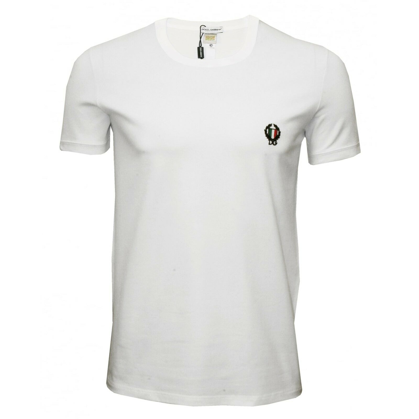 Dolce & Gabbana Sport Crest Crew-Neck Men's T-Shirt Weiß
