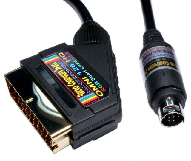 OMNI 128 HQ High Quality RGB Scart TV Lead Video Cable.