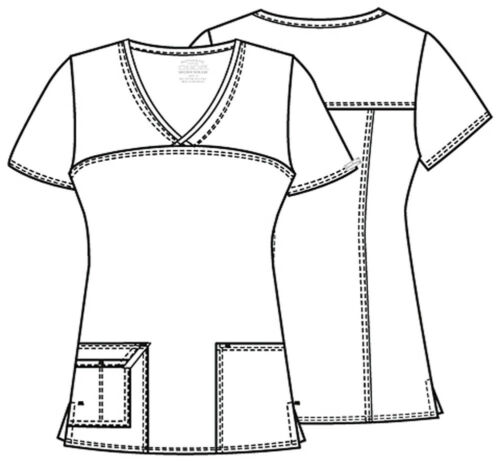 Red Cherokee Scrubs Workwear Core Stretch V Neck Top 4727 REDW