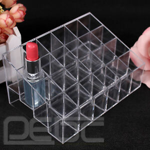 24-Stand-Lipstick-Trapezoid-Display-Holder-Case-Makeup-Cosmetic-Organizer-Hot