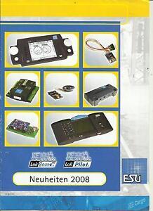Katalog ESU Neuheiten 2008 Elektronisches Modellbahnzubehör Sound Steuerung - Deutschland - Katalog ESU Neuheiten 2008 Elektronisches Modellbahnzubehör Sound Steuerung - Deutschland