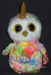 TY BEANIE BOOS - ENCHANTED the UNIOWL   UNICORN OWL - MINT with MINT ... 88457904479