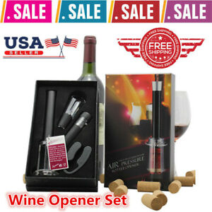 Details About Wine Opener Set Bottle Rocket 4 Piece With Gift Box Us Stock