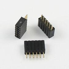 10pcs 127mm Pitch 6 Pin Female Straight Single Row Pin Header Strip Ph 46mm
