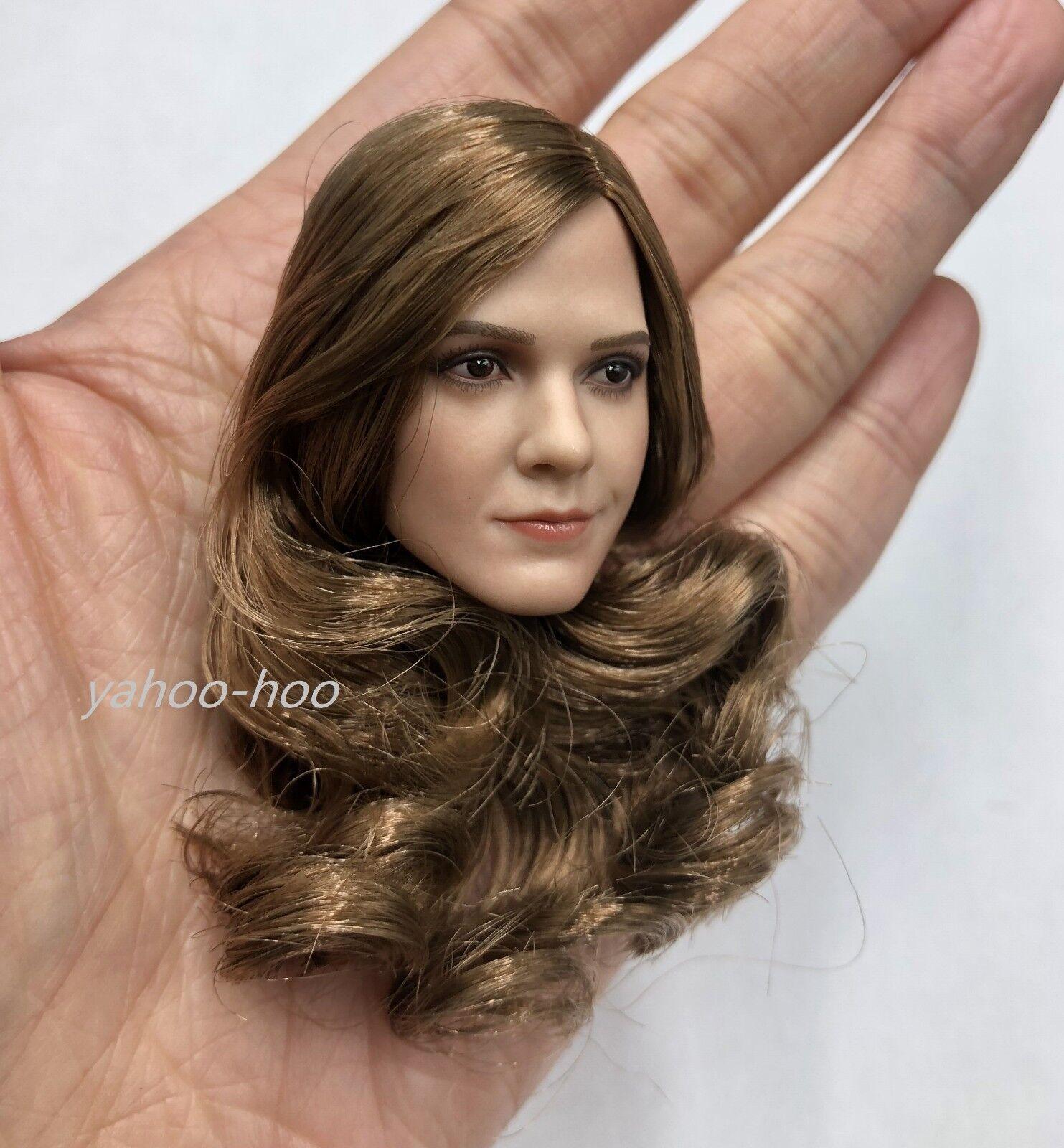 1 6 Emma Watson Head Sculpt Sculpt Sculpt with Curly Hair Harry Potter Hermione For 12  PHICEN c60603