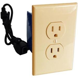 Battery Powered Outlet >> Details About Self Recording Battery Powered Outlet Hidden Spy Nanny Camera Beige