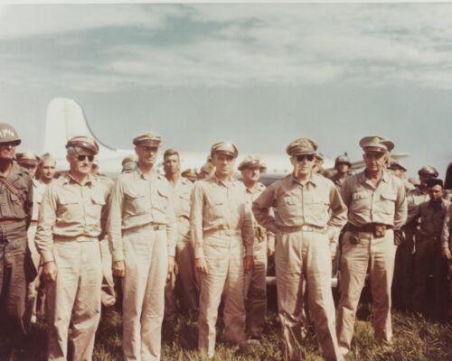 General Douglas MacArthur arrives at Atsugi Air Base in Japan Photo Print
