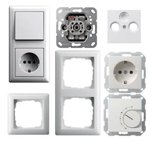 Gira Standard 55 / System 55 reinweiß glänzend Steckdose Schalter ...