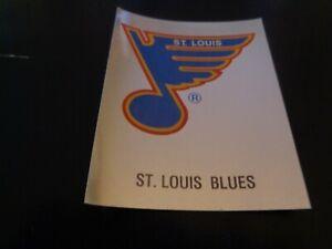 1987-88 Panini NHL Hockey Sticker #304 St. Louis Blues Logo - NR-MT