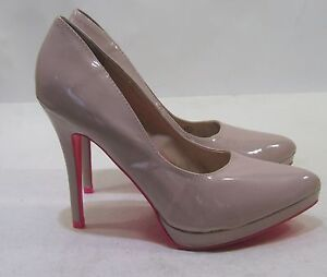 """Skintone/Hot Pink 5"""" Stiletto High Heel Pointy Toe Sexy Shoes Size 7.5"""