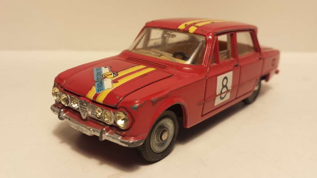 Dinky France ORIGINALE ALT Old ALFA ROMEO GIULIA TI RALLY RAR