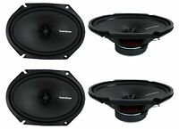 Rockford Fosgate R168x2 6x8 220w 2 Way Car Audio Coaxial Speakers, 2 Pairs