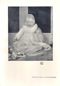 1905 Viktorianisch Studio Aufdruck ~ Porträt Von Ein Lady Von W.Graham Robertson