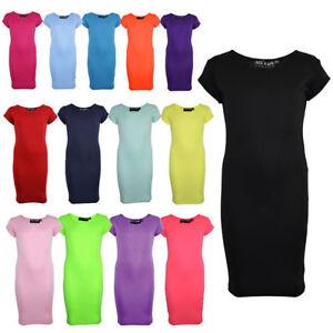 Ninas-Vestido-A-Media-Pierna-Llanura-De-Ninos-Color-Vestido-Cenido-Moda-Verano