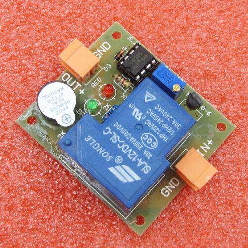 12V Accumulator Sound Light Alarm Prevent Over Discharge Controller Low Voltage