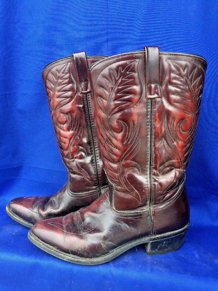 Vintage LAREDO Indian Nation LEATHER Cowboy Stivali Rodeo Eagle LEATHER Nation Uomo Shoes Sz 9.5 dd6417