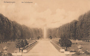 Ak Schwetzingen Der Schlossgarten Railway post Office Frankfurt Karlsruhe 1913 (