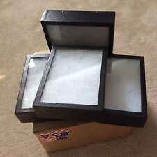 1 Box Of 4 6 X 8 X 2 Extra Thick Display Cases Riker Type Usa Made