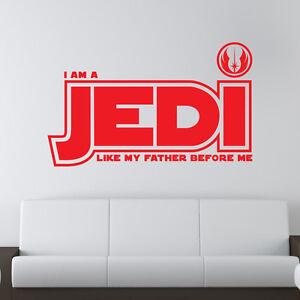 Star Wars Jedi Wandaufkleber Spruch Kinder Schlafzimmer Wand ...