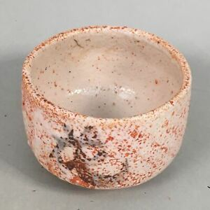 Japanese-Ceramic-Tea-Ceremony-Bowl-Chawan-Shino-ware-Vtg-Pottery-GTB649