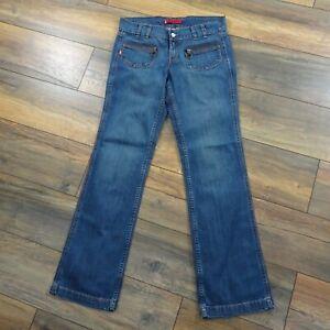 Levis-Mary-Beth-Blue-Jeans-32W-32-5L-Square-Cut-Low-Jeans-Pockets-Wide-Leg