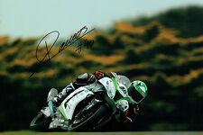 Roman RAMOS SIGNED Superbike Autograph WSBK 12x8 Photo Kawasaki AFTAL COA