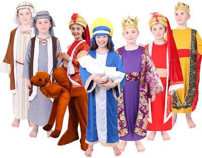 #Nativity RE Tabard Costume Natale Natale Tutti I Colori per Ragazzi e Ragazze
