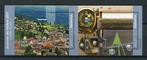 Switzerland-2017-MNH-Sainte-Croix-Stamp-Day-2v-M-S-Architecture-Tourism-Stamps