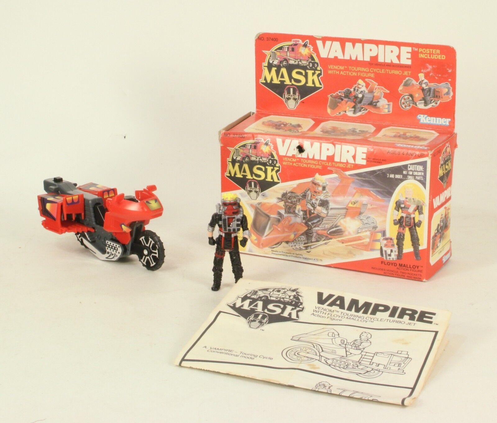 M.a.s.k. von kenner 1986 vampir & floyd malloy & original box - maske