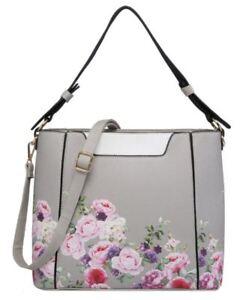Ladies New Extendable Side Pockets Hang  Bag Snake Faux Leather Shoulder Bag