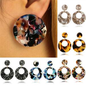 Rond-acrylique-chute-geometrique-oreille-Studs-boucles-d-039-oreilles-femmes-bijoux
