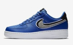 fee405ae2b9 Nike Air Force 1 Low 07 LV8 Chenille Swoosh Game Royal Blue Wolf ...