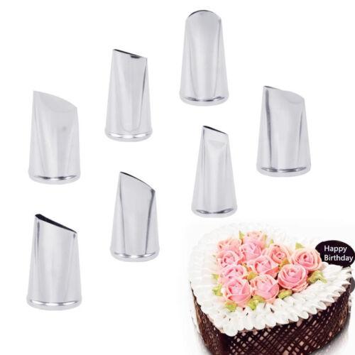 7X Cake Decorating Tip Cream Icing Piping Rose Tulip Petal Nozzle Pastry