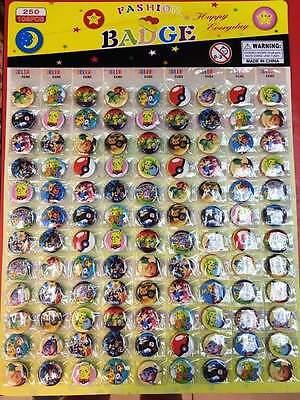 Lot 540 Pcs Pikachu Pokemon Anime Badge Button Pins Party Gifts Diamete O76