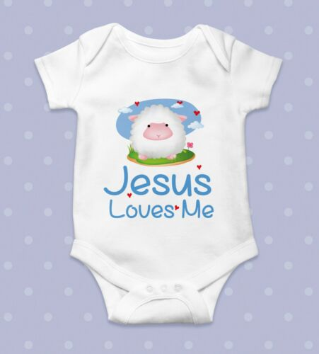 Jesus loves me Funny Bodysuit Cute Baby one piece Gift Idea