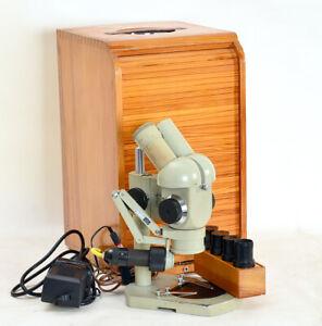Stereomikroskop-SMXX-Carl-Zeiss-Jena-2-Okular-Paare-Beleuchtungseinr-1917