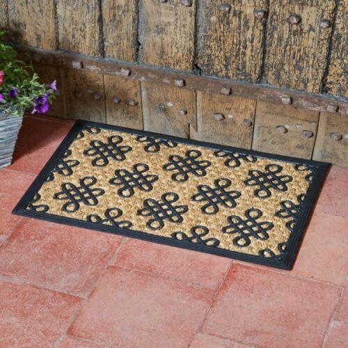 Heavy Duty Natural Coir Door Mat Rubber Non Slip Indoor Outdoor Entrance Floor