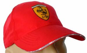 7a44aa8b36a Image is loading FERRARI-CLASSIC-BASEBALL-CAP-RED-HAT-LOGO-EMBROIDERED-
